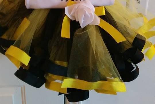 Bumblebee Ribbon Trimmed Tutu 2t-5t