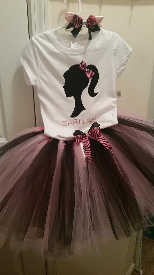 Barbie Tutu Outfit 12-16 girls