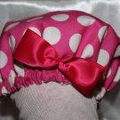 Pink Polka Dot Baby Bonnet