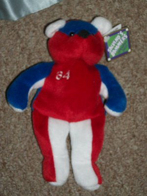 """Kerry Wood 1999 Opening Day """"Salvino's Bammers"""" USA RED WHITE BLUE BEAR"""