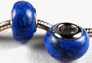 Blue European Gemstone Bead