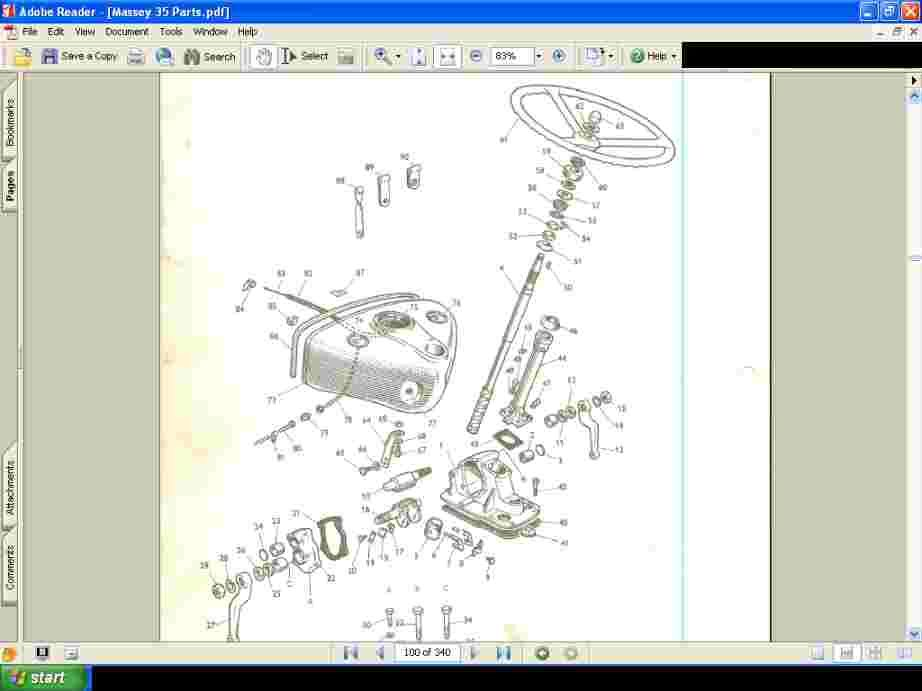 Massey Ferguson Mf 35 Tractor Parts Manual 340 Pages  Mf35