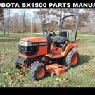 KUBOTA BX 1500 BX 1500 D PARTS MANUAL -250pg of BX1500D Tractor Service & Repair