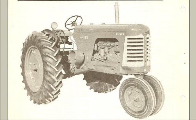 Oliver Super 77 88 Operations Maintenance Manual For Tractor Service And Repair