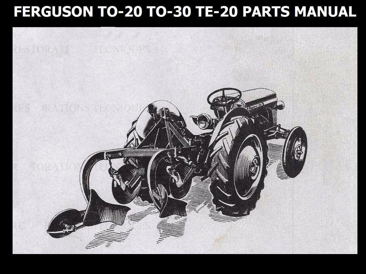 Ferguson Te20 To20 To30 Parts Manual