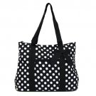 Polka Dot Tote in Black and White