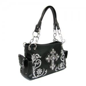 Black Western Cross Handbag