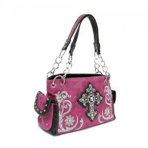 Pink Western Cross Handbag