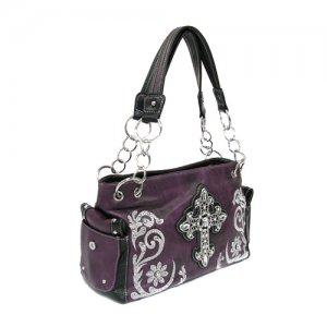 Purple Western Cross Handbag