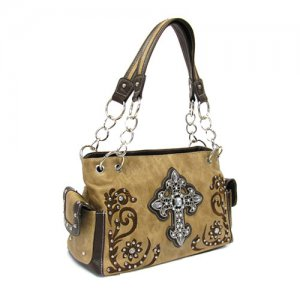 Brown Western Cross Handbag