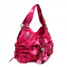 Pink Feather Flower Handbag