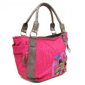 Fleur Handbag in Fuschia