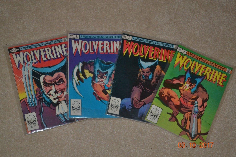 Wolverine #1-4 Mini Series, Claremont Frank Miller, Marvel Comics, Logan  +
