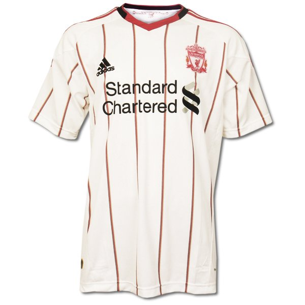 LIVERPOOL Away Size M New White 2010-2011