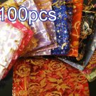 Mixed Colorful 6.6x9inch(17x23cm) Organza Bag Pouch for Gift Jewelry with Printed Pattern