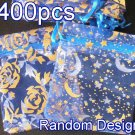 400pcs Royal Blue 2.7x3.5inch(7x9cm) Organza Bag Pouch for Gift Jewelry Random Design