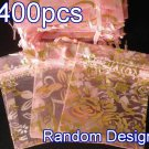 400pcs Baby Pink 2.7x3.5inch(7x9cm) Organza Bag Pouch for Gift Jewelry Random Design