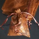 200pcs Brown 9x6.5inch(23x17cm) Organza Bag Pouch for Gift Jewelry Solid Color