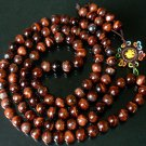 108 Natural Red Tiger Eye Gem 0.4inch Bead Buddhist Prayer Mala Necklace