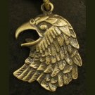 Alloy zinic brass ferocious eagle hawk king of birds head pendant Necklace Braid Cord EB14
