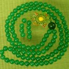 Malaysia Green Jade 108 0.3inch Beads Necklace