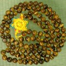 Tibet 108 Tiger Eye Gemstone 0.3inch Bead Necklace