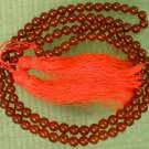 Tibet 108 Red Agate Gemstone 0.3inch Bead Necklace