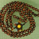 Tibet 108 Natural Tiger Eye Gemstone 0.3inch Bead Necklace