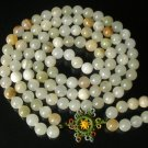 108 Tibet Natural Light Color Gemstone Stone 0.4inch Bead Necklace
