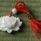 Natural Sea Shell Carved Lotus Flower Pendant CC0002
