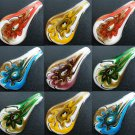 1pcs Glass Lampwork Hand Art Craft Colorful Cheap Flower Jewelry Pendant SC0135-139