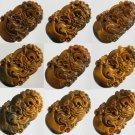 1pcs Natural Tiger Eye Gemstone Carved Dragon Pendant One of Tranditional Zodiac