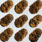 1pcs Natural Tiger Eye Gemstone Carved Tiger Pendant One of Tranditional Zodiac