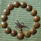 Green Sandalwood Beads(0.5inch) Buddhist Prayer Mala Bracelet