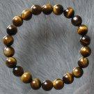 Natural Tiger Eye Gemstone Buddhist Mala Bracelet BG21