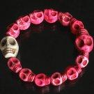 Cool Hot Pink White Turquoise Skulls Chain Bracelet for Men Women ZZ217