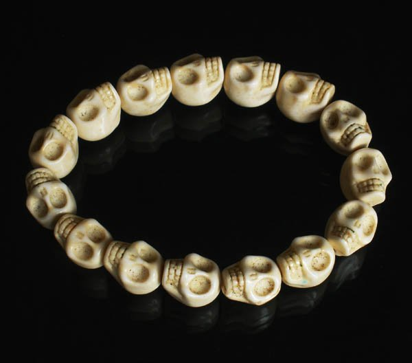 Cool White Turquoise Skulls Chain Bracelet for Men Women ZZ208