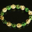 Cool Light Green White Turquoise Skulls Chain Bracelet for Men Women ZZ207