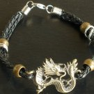 Alloy Zinic Brass Cool Male Men's Gift Ferocity Imperial Dragon Head Bracelet EJ2003
