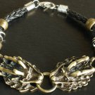 Alloy Zinic Brass Cool Male Men's Gift Ferocity Imperial Dragon Head Bracelet EJ2001