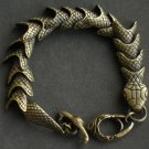 Alloy Zinic Brass Cool Male Men's Gift Joint Section Snake Python Boa Anaconda Bracelet EB2009