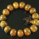 Carved Natural Wood Beads Buddhist Prayer Mala Bracelet DI710