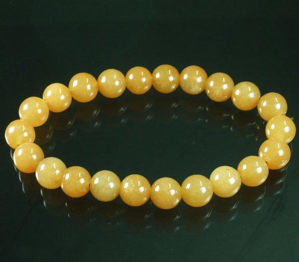 Tibet Light Orange Gemstone Bead Buddhist Mala Bracelet WZ229