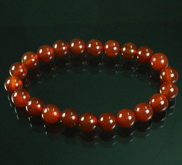 Tibet Red Agate Gemstone Beads Buddhist Mala Bracelet WZ228
