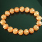 Tibetan Orange Gemstone Bead Buddhist Mala Bracelet WZ218