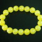 Tibetan Yellow Jade Gemstone Bead Buddhist Mala Bracelet WZ215