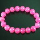 Tibetan Hot Pink Gemstone Bead Buddhist Mala Bracelet WZ211