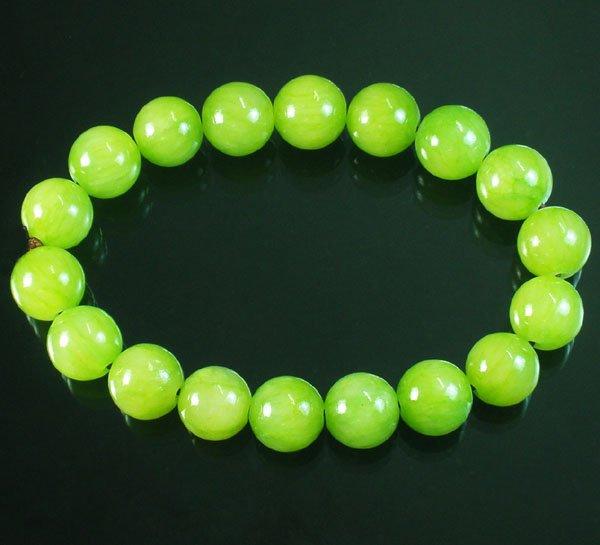 Tibetan Bean Green Gemstone Bead Buddhist Mala Bracelet WZ210