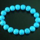 Tibetan Blue Veins Gemstone Bead Buddhist Mala Bracelet WZ209