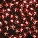 1000 pcs Wedding Dress Accessories Silvertone Dot Red Resin Star Flower Beads Findings ZZ5119